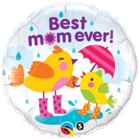 Folie Ballon Best Mom Ever Bird (leeg)