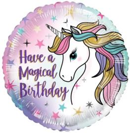 Folie Ballon Have A Magical Birthday Unicorn (leeg)