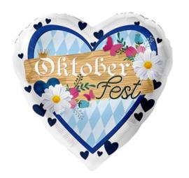 Folie ballon Oktoberfest Hart (leeg)