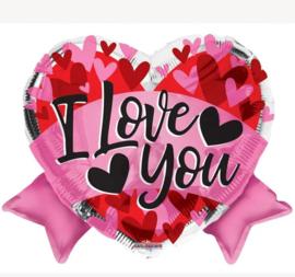 Folie Ballon I Love You (leeg)
