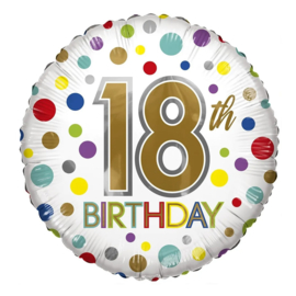 Folie Ballon 18th Birthday (leeg)