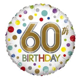 Folie Ballon 60 th Birthday (leeg)