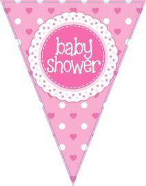 Baby Shower meisje Vlaggenlijn