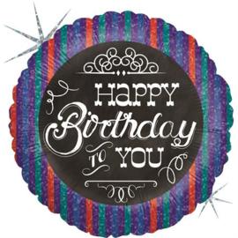 Folie Ballon Birthday Chalkboard (leeg)