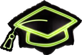 Folie Ballon Neon Grad Cap (leeg)