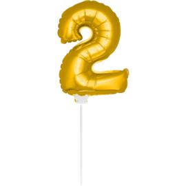Folie Cijfer Goud 2 (leeg)