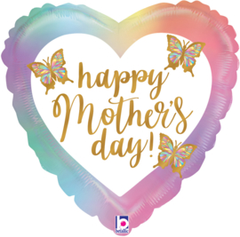 Folie Ballon Happy Mother's Day heart (leeg)