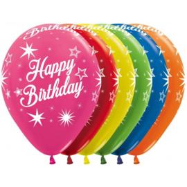 Latex Ballonnen Happy Birthday Sparkles