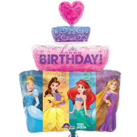 Folie ballon Disney Prinses B-day Cake (leeg)
