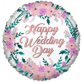 Folie Ballon Happy Wedding Day (Leeg)