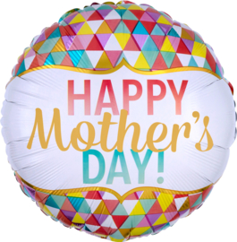 Folie Ballon Happy Mother Day Geometric (leeg)