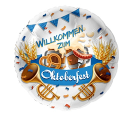 Folie Ballon Willkommen Zum Oktoberfest (leeg)