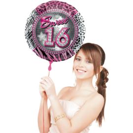 Folie ballon Sweet 16 (Leeg)