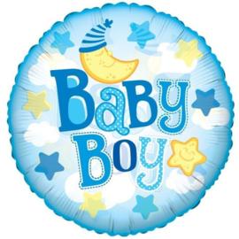 Folie ballon Baby Boy Moon (leeg)