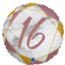 Folie Ballon Marble Rose Gold 16 (Leeg)