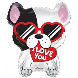 Folie Ballon Love Dog (leeg)
