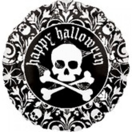 Folie Ballon Happy Halloween Skelet (leeg)