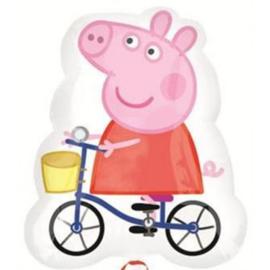 Folie ballon Peppa Pig fiets (leeg)