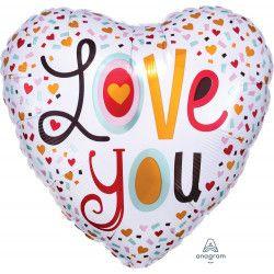 Folie Ballon Confetti Love You (leeg)