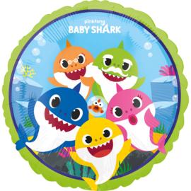 Folie ballon Baby Shark (leeg)