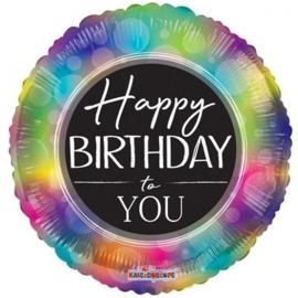 Folie Ballon Happy Birthday Rainbow (leeg)