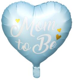 Folie Ballon Mom to Be Blauw (leeg)