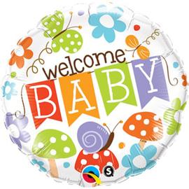 Folie ballon Welkom Baby (leeg)
