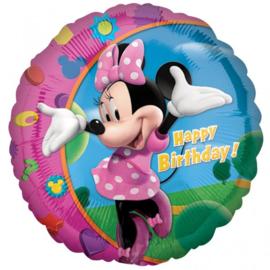 Folie Ballon Minnie Mouse Birthday (leeg)