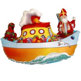 Folie Ballon Sinterklaas Stoomboot (leeg)