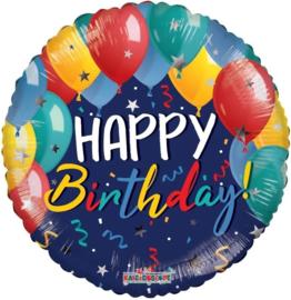 Folie Ballon Happy Birthday  Ballonnen (leeg)