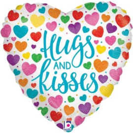 Folie Ballon Hugs And Kisses (leeg)