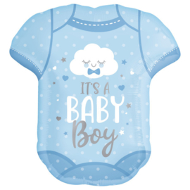 Folie ballon Baby Boy Onesie (leeg)