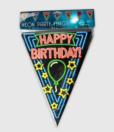 Happy B-Day neon Vlaggenlijn