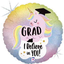 Folie Ballon Flitter pastel Unicorn Grad (leeg)