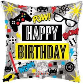 Folie Ballon Happy Birthday (leeg)