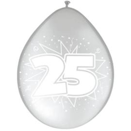 Latex Ballonnen 25 jaar huwelijk