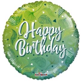 Folie Ballon Birthday Green Motifs (leeg)