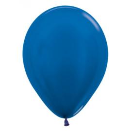 Latex Ballonnen Blauw Metallic
