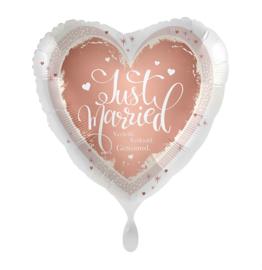 Folie Ballon Getrouwd - Verloofd (leeg)