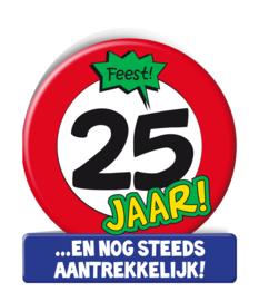 Wenskaart 25 jr Verkeersbord