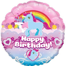 Folie ballon Birthday Rainbow Unicorn  (leeg)