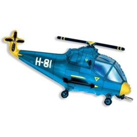Folie Ballon Helikopter Blauw (leeg)