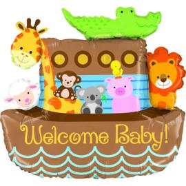 Folie Ballon Welcome baby Ark (leeg)