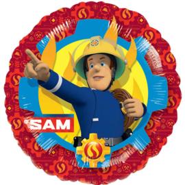 Folie ballon Brandweer Sam vlammen (leeg)