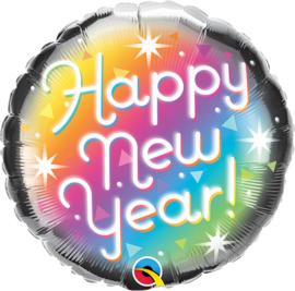 Folie Ballon Happy New Year (leeg)