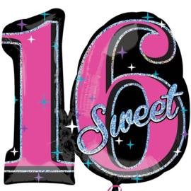 Folie Ballon Sweet Sixteen (leeg)