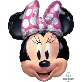 Folie ballon Minnie Mouse Hoofd (leeg)