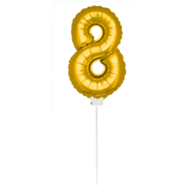 Folie Cijfer Goud 8 (leeg)