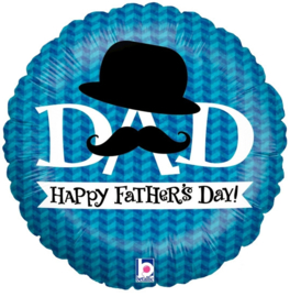 Folie Ballon Happy Father's Day (leeg)