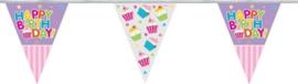 Vlaggenlijn Happy Birthday Cupcake